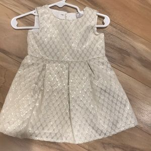NWOT Gold and cream Carters dress- 6m